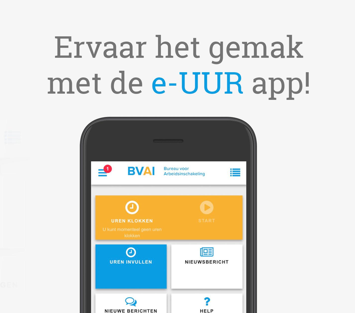 Ervaar het gemak met de e-UUR app